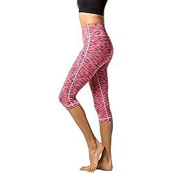 LAPASA Mallas deportivas 3/4 Capris de mujer para Yoga