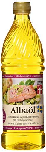 ALBAÖL - schwedische Rapsöl-Zubereitung mit Buttergeschmack 750ml, 3er Pack (3 x 750ml Flasche)