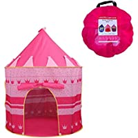 Newin Star Kinder Zelt Spiel-Zelt Besonders für Mädchen Faltbare Pop Up Rosa Spielhaus für Indoor & Outdoor Nutzung wie Kuschelhöhle im Kinderzimmer oder als Wind- und Sonnenschutz im Garten