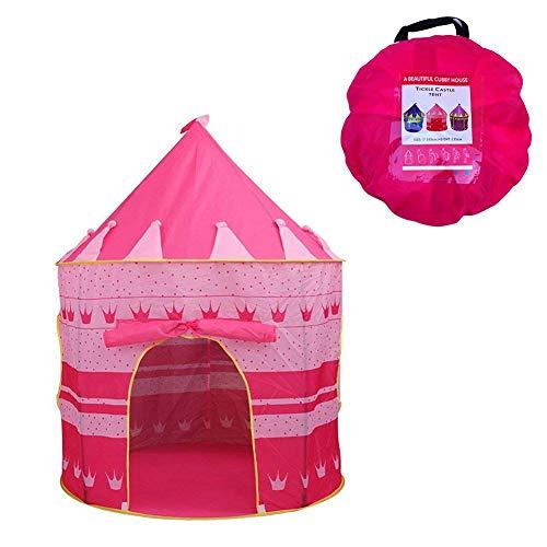 Newin Star Kinder Zelt Spiel-Zelt Besonders für Mädchen Faltbare Pop Up Rosa Spielhaus für Indoor & Outdoor Nutzung wie Kuschelhöhle im Kinderzimmer oder als Wind- und Sonnenschutz im Garten (Pop-stars Als Kinder)