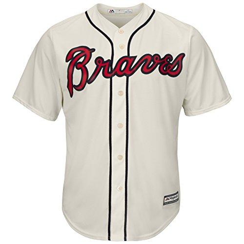Majestic Atlanta Braves Cool Base MLB Trikot Alternate Ivory (XL)