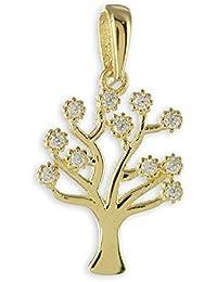 b46300737167 Schmuck-Krone - Colgante de oro amarillo 333 de 8 quilates para mujer