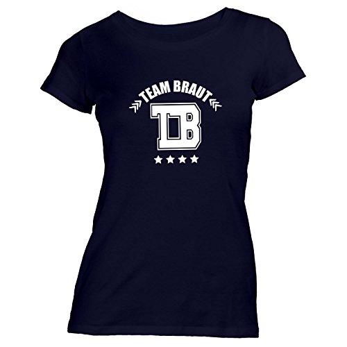 Damen T-Shirt - Junggesellenabschied - TB - Team Braut College - JGA Polterabend Junggesellen Schwarz