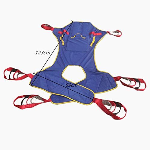 41PR5xvxQOL - MYLW Paciente Levantar Transferir Cinturón con Seis Punto Apoyo Cuerpo Completo Seguro Transferir,Ayudar Izar Paso Cinturón con Pesado Deber