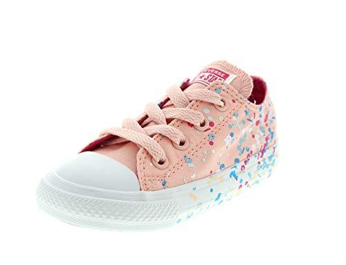 Converse Unisex Baby CTAS Ox Storm Hausschuhe, Mehrfarbig Pink Pop/White 690, 20 EU (Converse Schuhe Mädchen Rosa)