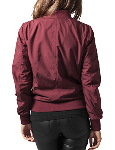 Urban Classics - Ladies Light Bomber Jacket - Blouson Femme Rouge (burgundy 606)