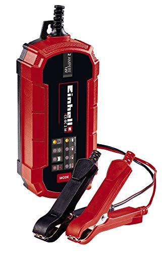 Einhell Batterie-Ladegerät CE-BC 2 M (intelligentes Batterieladegerät mit Mikroprozessorsteuerung für verschiedenste Batterietypen, u.a. Kfz/Krad, max. 2 Ampere Ladestrom)