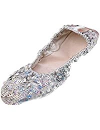 GIVBRO Donne Professionale Morbido Ballerine Balletto Scarpe da Ballo  Scarpe da Donna Ragazza Danza del 6ba4dc6dbb8