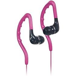 KitSound Enduro Écouteurs Sports Intra Auriculaires Résistants à l'Eau avec Crochets d'Oreilles, Compatibles avec les Smartphones, Tablettes et MP3 - Rose