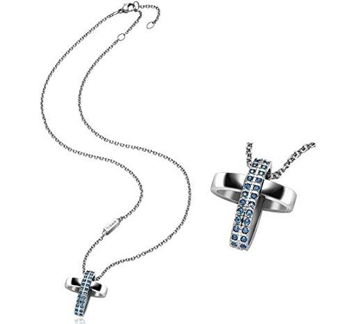 Breil set catenina e pendente charming cross acciaio