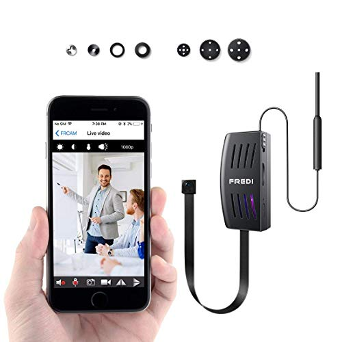 WiFi Caméra Espion, FREDI 1080P HD Mini Caméra Cachée, Caméra de Surveillance de Sécurité pour Intérieure / Extérieure Vue à Distance Via APP