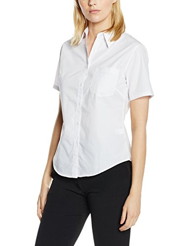 Fruit of the Loom Oxford Long Sleeve, Camicia Donna White