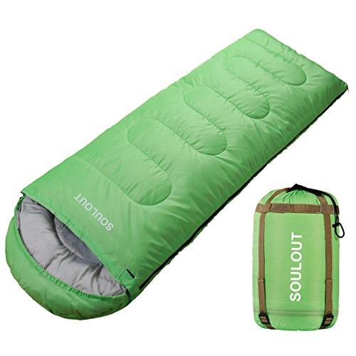 SOULOUT Schlafsack 3-4 Jahreszeiten - Wasserdichter Leichter Deckenschlafsack für Camping, Reisen und Outdoor-Aktivitäten -Ideal für Erwachsene und Kinder - 220 x 76 cm