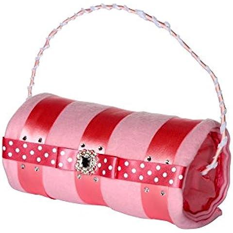 Ella Rosa torta di pannolini a forma di frizione borsa con coperta in pile/Baby Girl Cesto–Cestino/Baby Shower Regalo/nuovo arrivo regalo/spedizione veloce