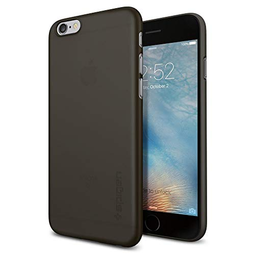 Spigen cover iphone 6s, [air skin] morbida e sottile solamente custodia iphone 6 / iphone 6s - nero