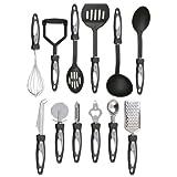 Vivo © 12pc Stainless Steel Cooking Utensil Set Kitchen Gadget Tool Nylon Handles