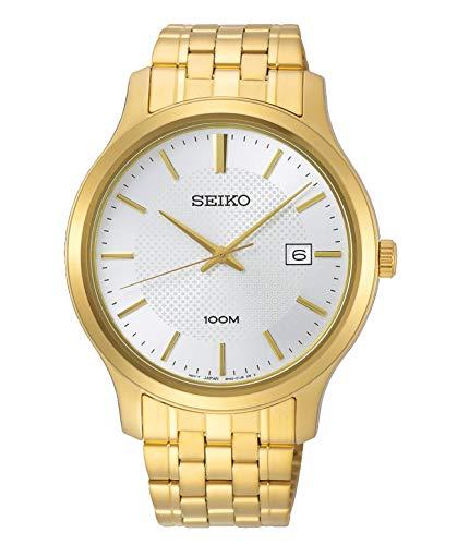 Seiko Herren Analog Quarz Uhr mit Edelstahl Armband SUR296P1