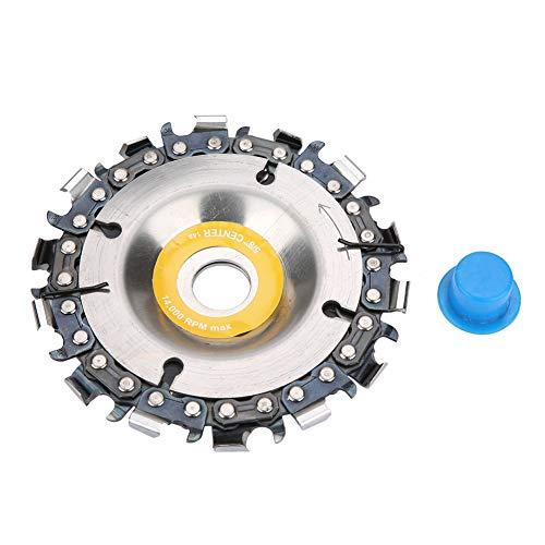 """4\""""14 Hojas de sierra de taladro giratorio Hojas de corte circular Disco de cadena de dientes Rueda de cadena de carpintería para amoladora angular de 100 / 115mm"""