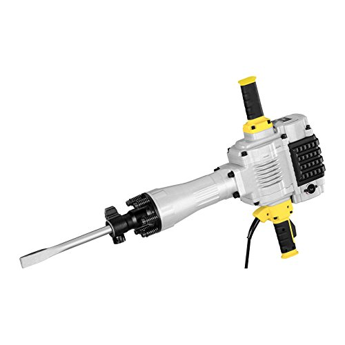 MSW ABH-2100 Abbruchhammer Stemmhammer Meißelhammer (2100 W, 85 J, 1.600 S/min, SDS-HEX, Flachmeißel, Spitzmeißel, inkl. Zubehör)