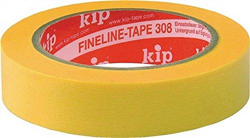 Kip 308-30 Krepp gelb Klebeband Breite: 30 mm / Länge: 50 m FineLine - Tape Spezialpapier