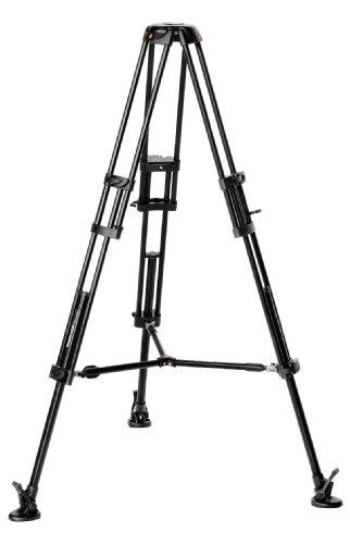 Manfrotto Video-Pro-Stativ mit 75 mm Halbschale und Mittelspinne - Video-stativ Fluidkopf