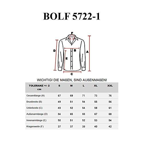 BOLF Herren Freizeithemd Herrenhemd Langarm Hemd Classic Slim Fit 2B2 Casual Weiß-Rot