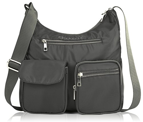 htweight Carryall Travel RFID Blocking Protection Crossbody Bag Multi Pocket Shoulder Handbag BA10 ... ()