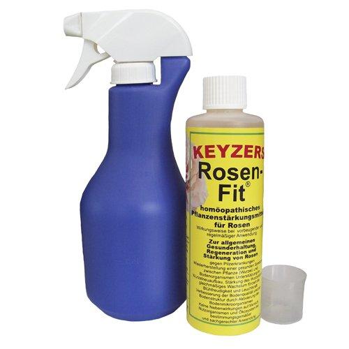 Keyzers Rosen-Fit 250ml mit Sprühflasche und Messbecher - Das homöopathische Pflanzenstärkungsmittel für Rosen