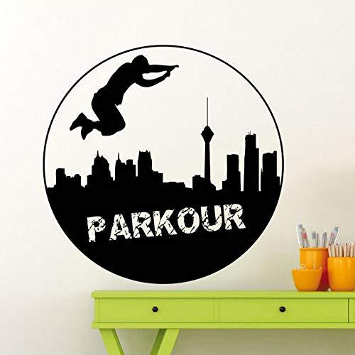Yzybz Extrme Sport Vinyl Wandtattoo Parkour Wandaufkleber Neues Design StraßeSport Wand Fenster Poster Parkour Liebhaber - Halloween Fenster Festhalten