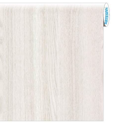 Artesive wd-001 rovere bianco opaco larg. 90 cm al metro lineare - pellicola adesiva in vinile effetto legno per interni per rinnovare mobili, porte e oggetti di casa
