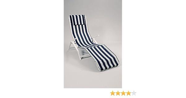 Amazon.de: Sonnenliege Bäderliege Aldi Weiß Blau Outdoor Sessel Gartenmöbel