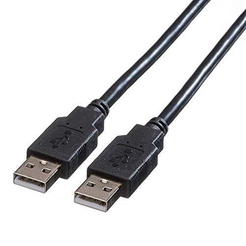 ROLINE USB 2.0 Kabel   A-Stecker auf A-Stecker   HighSpeed Datenkabel   Schwarz 1,8 m