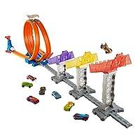 Hot Wheels - 3 Kademeli Atlayış Yarış Seti (Mattel Djc05)