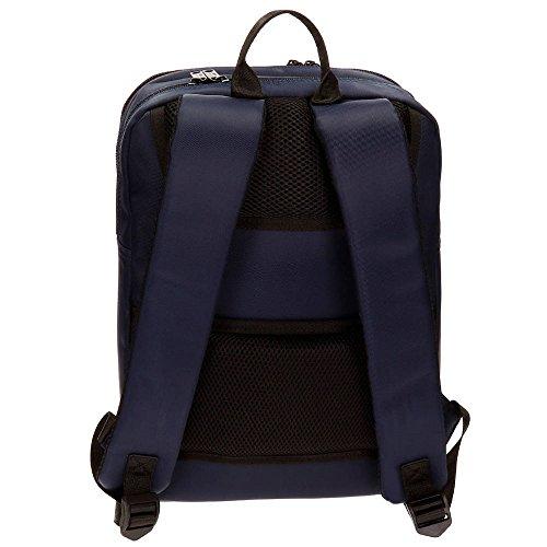 Beverly Hills Polo Club Bolt Zaino Casual, 36 cm, 11.66 liters, Nero (Negro) Azzurro