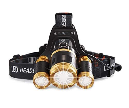 LED-Kopf Fackel - Beste Pocket-Sized-Scheinwerfer für Laufen, Hund zu Fuß, Angeln, Biken, Camping, Natur beobachten,Fahrrad Beleuchtung Modi leicht, komfortabel und wetterfeste inkl. Batterien