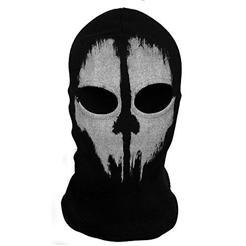 m Maske Balaclava Hood WarGame Airsoft Paintball Outdoor Jagd für Geisterschädel Training Ski Maske, Kapuze Ski (White Ghost Halloween Kostüm)