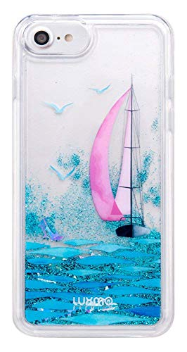 SumacLife Protective, Sparkling Waterfall Skin for Apple iPhone 7 Plus or iPhone 8 Plus - Blue Sail Boat