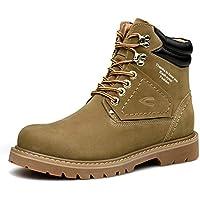 Gfphfm-shoes Botas de Invierno para Hombre PU Botines de Nieve para Exterior Botines de Encaje Antideslizante para Hombre Zapatos de Martin Tallas Grandes (Color : UN, tamaño : 42)