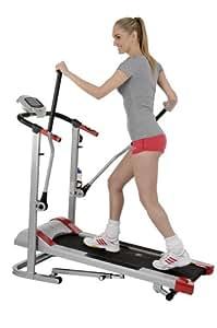 Christopeit Unisex-Adult Runner Pro Walking Laufband Silber Schwarz Rot 138 x 70 x 135 cm
