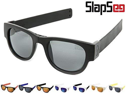 8a299fe2753 SlapSee Pro Folding Stay On Sunglasses with Polarized lens (BLACK BLACK