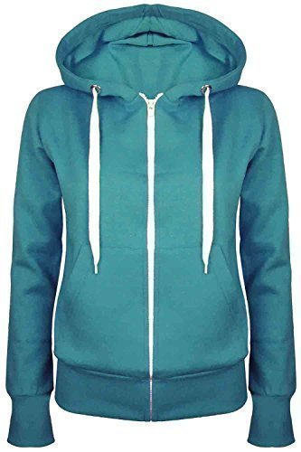 Oops Outlet Damen Uni Hoody Mädchen Zip Top Damen Hoodies Sweatshirt Coat Plus Größe 6