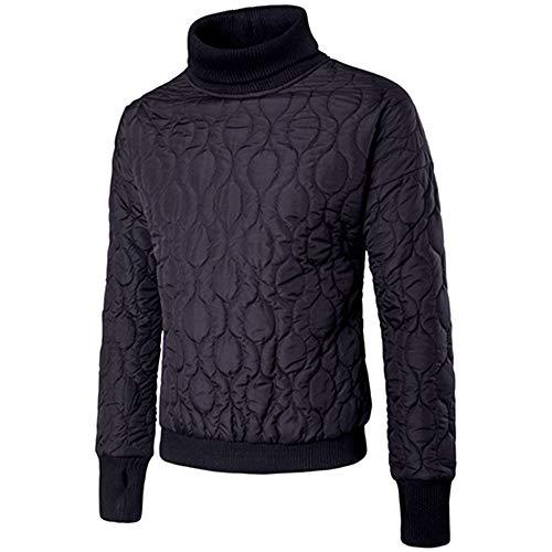 ➤ Sweatshirt für Herren,Loveso Winter Freizeit Männer Rollkragen Lange Ärmel Solid Color Pullover Sweatshirt Langarm Outwear Turtleneck Longsleeve Bluse Tops -