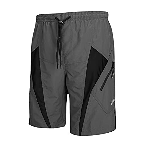 Santic Men's Padded Cycling Shorts Bicycle Breathable Baggy Casual Loose Fit Half Pants Mountain