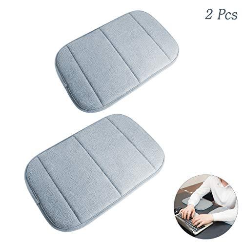 2 Stück Tragbar Handgelenkauflagen Handgelenks Pad, Ergonomische Handballenauflage Ellbogen Pad mit Memory-Schaum, Entlastung des Handgelenks Ellenbogen Pad (7,9 x 11,8 Zoll) (Grau) -