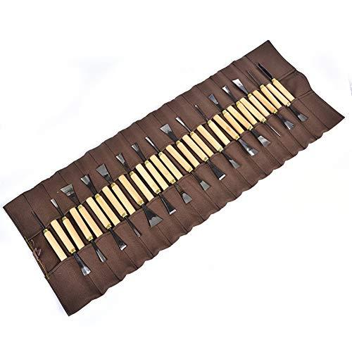 YMJJ Holzschnitzwerkzeuge Set, Meißelschnitzwerkzeug, DIY für Bastelliebhaber, mit Aufbewahrungstasche (Bitte Klopfen Sie Nicht Auf Halloween)
