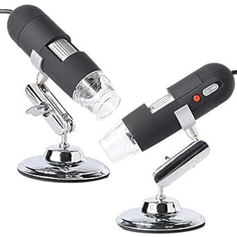 XCSOURCE 2.0MP 500X USB Microscope Endoscope PC Magnifier Caméra Loupe Numérique 8LED Light pour Mac Win/Mac/WinXP/7/OS TE130
