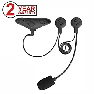 Avantree [2018 Version] WATERPROOF Bluetooth Motorbike Helmet Headset with Boom Microphone for Riders Intercom, Phone Calls, GPS (TOMTOM Navigation), Music, Interphones - HM100PS