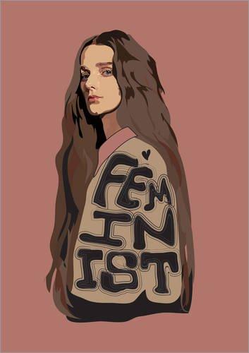 Póster 30 x 40 cm: Feminist (Pink) de Anna McKay - impresión artística póster artístico