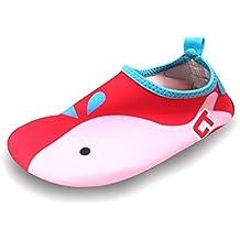 SAGUARO® Verano Aquashoes Zapatos de Agua Zapatillas de Playa Secado Rápido Calzado de Surf Yoga Niños Dibujos Animados Calcetines de Natación bebé