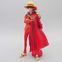 JJJJD One Piece - Confiado Luffy Anime Modelo Juguetes Hechos a Mano Sombrero  de Paja Rojo 55677f8ad37